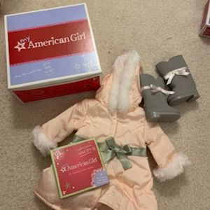 American Girl Pretty Pink Coat and Boots set